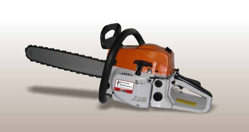 Kelowna chainsaw dealer decal